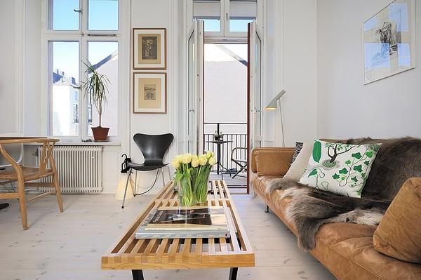 Skandinavische Wohnzimmer-Designs hypnotisierendem Effekt Retro Design