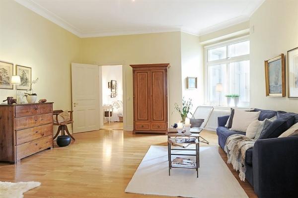 Wohnzimmer-Designs hypnotisierendem Effekt blaues Sofa