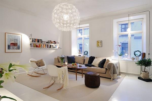 Skandinavische wohnzimmer designs mit einem for Skandinavische design