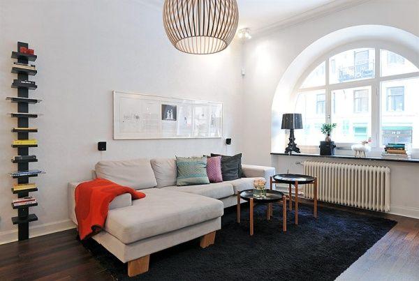 Skandinavische Wohnzimmer-Designs hypnotisierendem Effekt cooles Ecksofa