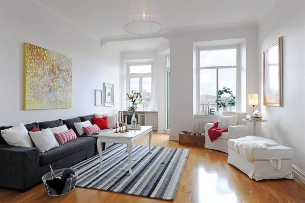 Wohnzimmer-Designs hypnotisierendem Effekt großes Sofa