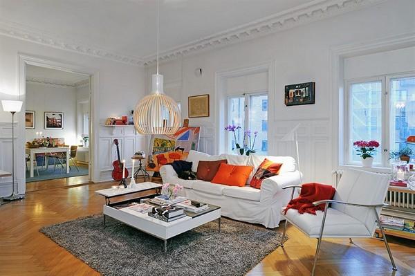 Wohnzimmer-Designs hypnotisierendem Effekt tolles Teppich