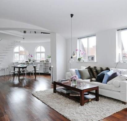 skandinavische wohnzimmer designs mit einem. Black Bedroom Furniture Sets. Home Design Ideas