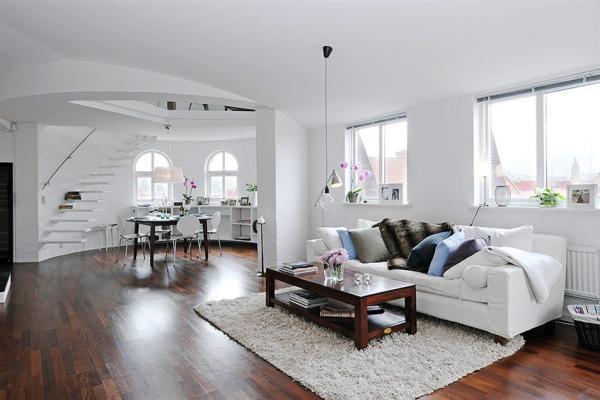 Skandinavische Wohnzimmer-Designs hypnotisierendem Effekt unglaubliches Interieur