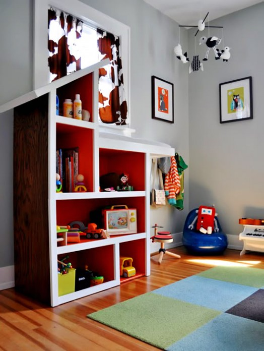 20 coole spielzeugregal ideen f r kinder. Black Bedroom Furniture Sets. Home Design Ideas