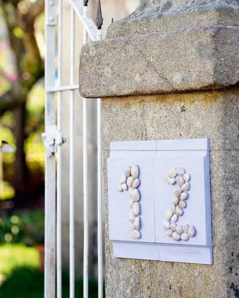Stilistische Flintsteine Innen Außendekoration Hausnummer Design