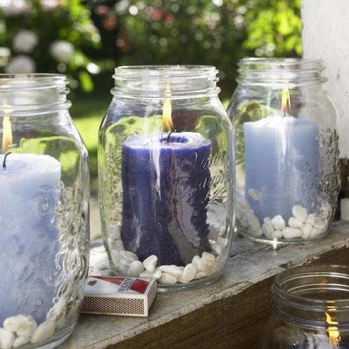 Flintsteine Innen Außendekoration Kerzenhalter Garten