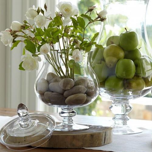 Stilistische Flintsteine Innen Außendekoration Vase Interieur