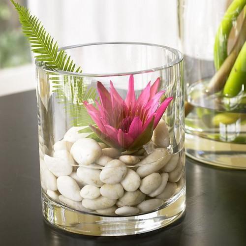 Stilistische Flintsteine Innendekoration Vasen Tisch