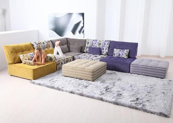Tiefsitz-Ideen Möbeln Wohnzimmer Fama Ecksofa