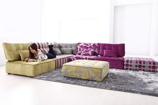 Tiefsitz-Ideen Möbeln Wohnzimmer Fama Ottomane