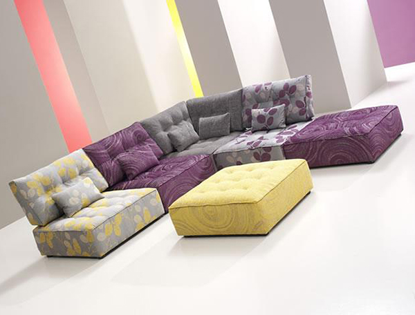 Tiefsitz-Ideen Möbeln Wohnzimmer Fama Ottomanne Design
