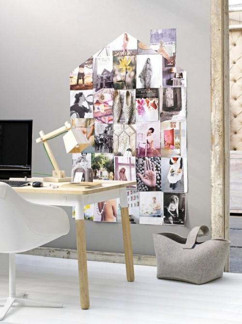 Wanddekoration Ideen Arbeitsplatz Stuhl Tisch Bilder