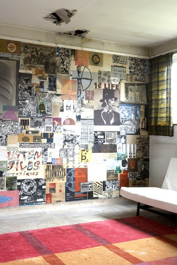 vintage bilder wohnzimmer:Vintage bilder wohnzimmer : Wanddekorationsidee Retro Wohnzimmer mit