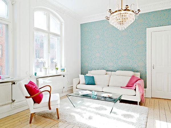 Wohnzimmer Designs hypnotisierendem Effekt-cooles weißes Sofa