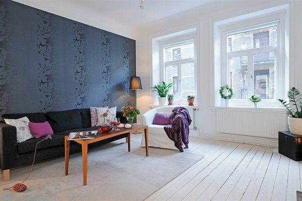 Wohnzimmer Designs hypnotisierendem Effekt weißes Sessel