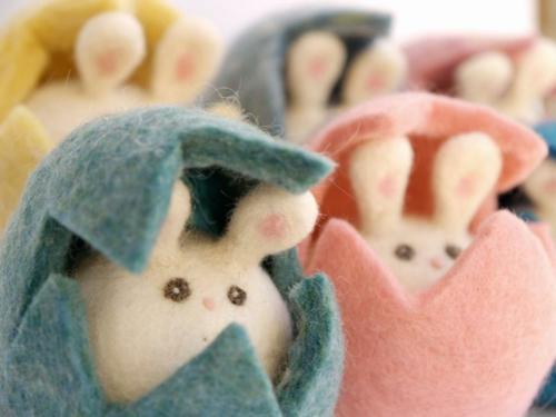 ostern idee stoff eierschalen hasen festlich