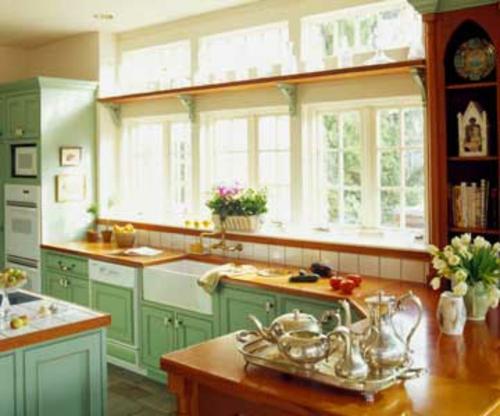 abrunden küche frisch lebhafte blasse farben fenster