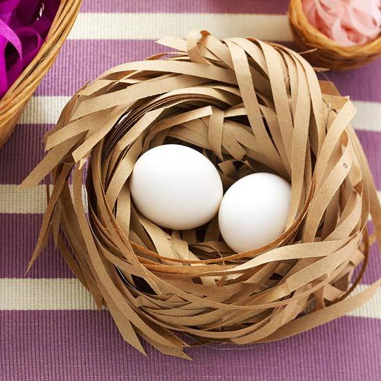 aktenvernichter papier blumendraht osternest eier deko