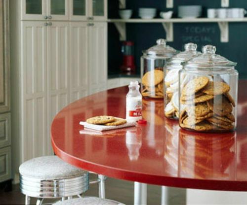 althergebrach glanzvoll esstisch retro-küchen design