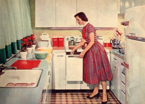altmodisch küchen design retro stil