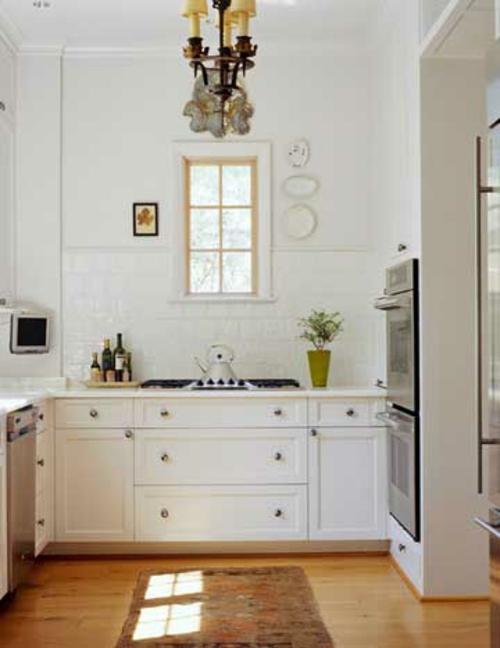 altmodische küchen fliesen küchenspiegel glanzvoll weiß