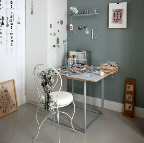 arbeitszimmer haus rustikal design