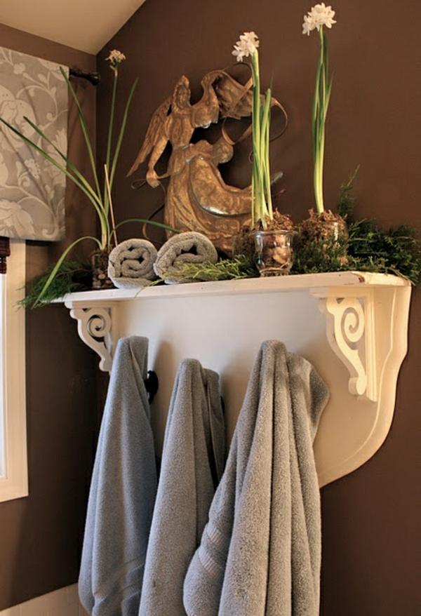 badezimmer design mit blumen und pflanzen originelle. Black Bedroom Furniture Sets. Home Design Ideas