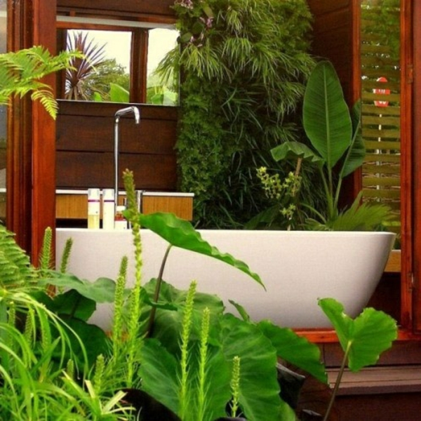 Badezimmer Design Mit Blumen Und Pflanzen
