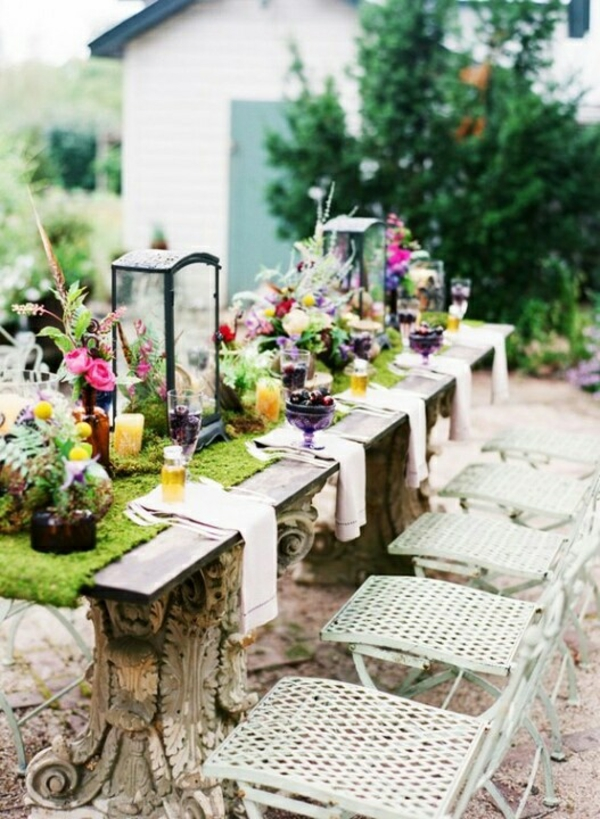 44 stilvolle und inspirierende fr hlingstischdeko ideen for Patio table centerpiece ideas