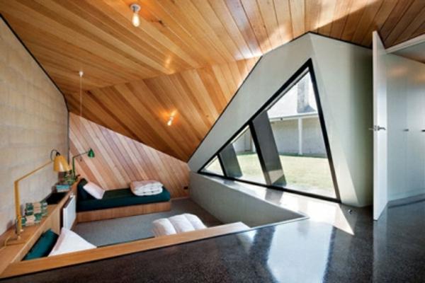 avantgardistisch dachgeschoss eckig design wohnbereich