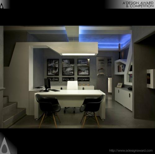 büro akryl modern glanzvoll weiß möblierung studio nl