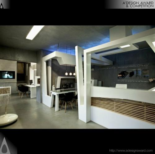 büro arbeiten weiß design originell studio nl Originelles Schreibtisch-Bett