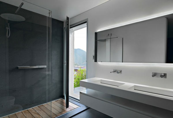 Badezimmer : Badezimmer Weiß Grau Badezimmer Weiß . Badezimmer ... Badezimmer In Grau Weiss