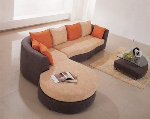 beige braun sofa eho microfiber modern euro design