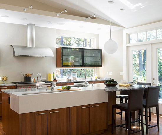 beliebte kücheninsel designs modern holz stehstühle