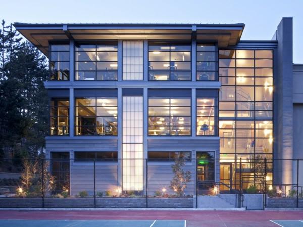 bellevue klubhaus glasfassade