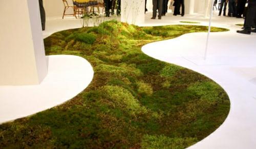 biologisch abbaubar moos lebendig teppich design