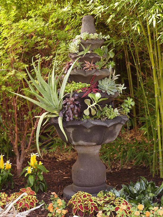 blumenbehälter interessant idee gebraucht alt fontäne