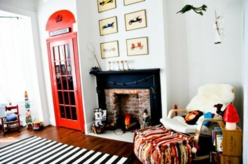 babyzimmer im britischen stil einrichtung streifen läufer