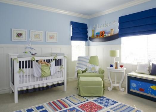 Farbgestaltung Kinderzimmer Ideen : Eine coole KleinkinderzimmerIdee für Jungs mit Möbeln in blauer