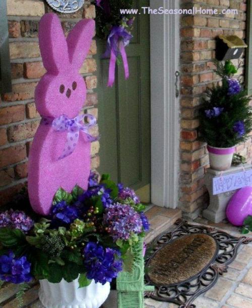 coole veranda deko ideen zu ostern rosa lila frühlingsblumen frisch