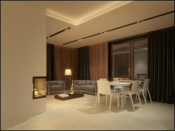 Wohnzimmer Inspiration Farbe : Esszimmer Braun Weiss : Living Room ...