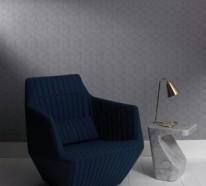 Moderne monochrome Tapeten mit 3D-Effekt – Form und Design von Graham & Brown