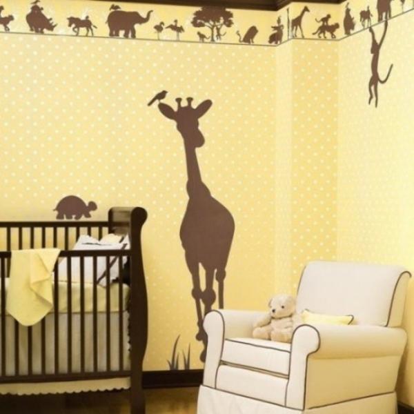 lustige dschungel dekoration im kinderzimmer 15 sch ne. Black Bedroom Furniture Sets. Home Design Ideas