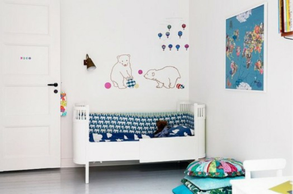 coole deko ideen im kinderzimmer nordpol design. Black Bedroom Furniture Sets. Home Design Ideas