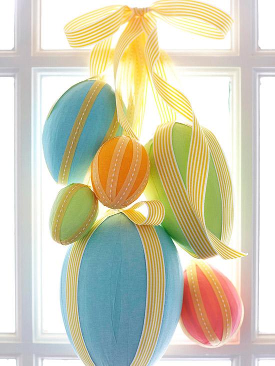 deko ideen mit ostereiern fenster dekoration größe