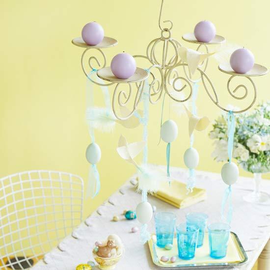 deko ideen mit ostereiern kronleuchter schmuck eier