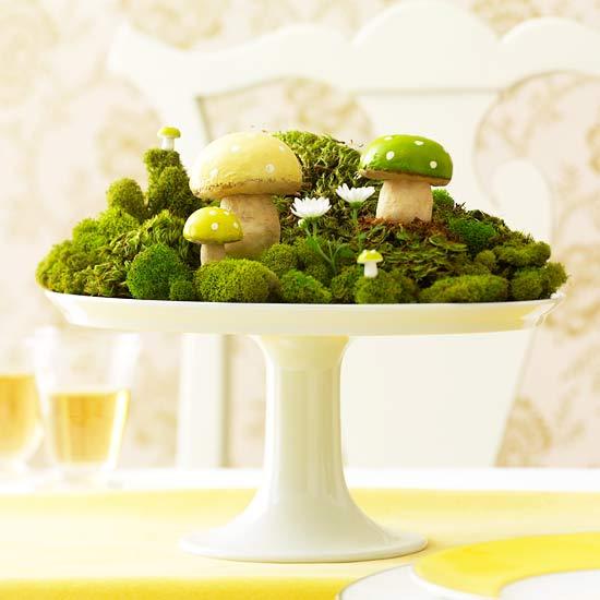 dekoration zu ostern selber machen moos wald miniaturhaft