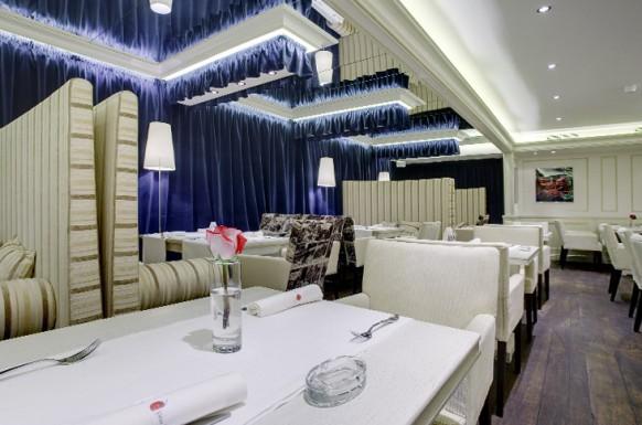 interieur designs im restaurant luxuriös weiß blau